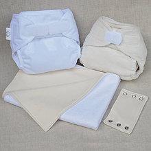 Detské doplnky - Sada látkových plienok pre novorodeniatko, biobavlna - 9508136_