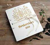 Papiernictvo - Drevená väzba nielen na Herbár - 9507597_