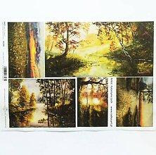 Papier - Ryžový papier na decoupage -A4-R1241 - príroda, les, strom - 9507649_