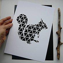 Obrazy - Veverička geo... - 9507840_