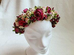 Ozdoby do vlasov - Romantika z ruží - 9508338_