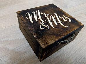 Krabičky - Drevená krabička na prstene - 9507740_