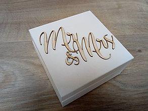 Krabičky - Drevená krabička na prstene - 9507773_
