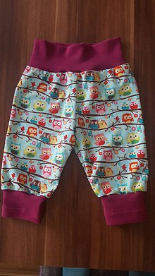 Detské oblečenie - Detské kraťasy - Sovičky - 9508023_