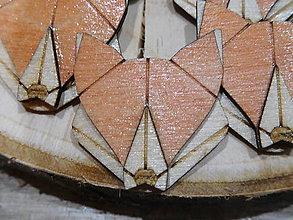Odznaky/Brošne - drevená brošňa líška - 9507651_