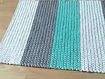 Úžitkový textil - Háčkovaný koberec gray, mint, white - 9507620_