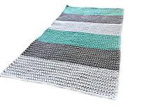 Úžitkový textil - Háčkovaný koberec gray, mint, white - 9507627_