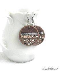 Náušnice - Klimtové hnedáčiky - 9508535_