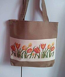 Kabelky - KABELKA tulipán - 9509842_