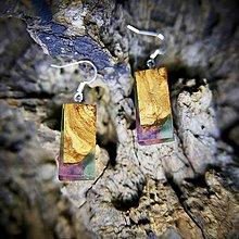 Náušnice - Drevené náušnice: Lollipop - 9508033_