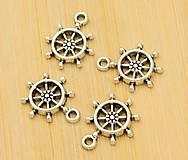 Komponenty - Prívesok strieborný kormidlo 1,9 x 1,5 cm - 9508862_