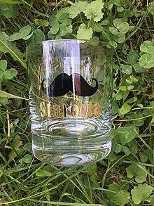 Nádoby - Pohár na whisky s fúzami - 9509161_