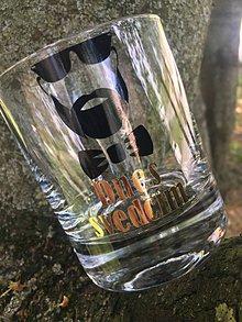 Nádoby - Whisky pohár Gentleman 1 pre svedka, družbu - 9509220_