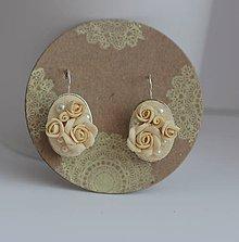 Náušnice - Svadobné náušnice -Ivory collection #4 - 9507423_