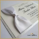 Svadobné oznámenie s uzlom ~Satén White~