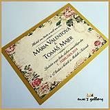 Svadobné oznámenie ~Vintage Gold~