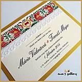 Svadobné oznámenie ~Folklor Gold~