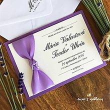 Papiernictvo - Svadobné oznámenie ~Satén Lavender~ - 9508440_