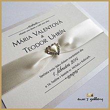 Papiernictvo - Svadobné oznámenie ~Love Créma~ - 9508451_