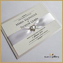 Papiernictvo - Svadobné oznámenie ~Love White~ - 9508467_