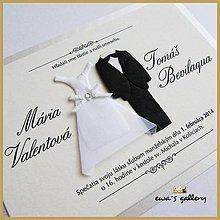 Papiernictvo - Svadobné oznámenie ~Wedding II.~ - 9508514_