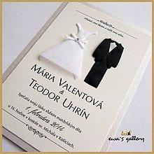 Papiernictvo - Svadobné oznámenie ~Wedding III.~ - 9508533_