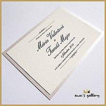 Papiernictvo - Svadobné oznámenie ~Jednoduché~ - 9508650_