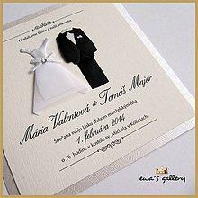 Papiernictvo - Svadobné oznámenie ~Wedding Kocka~ - 9508768_