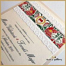 Papiernictvo - Svadobné oznámenie ~Folklor Silver Kocka~ - 9509699_