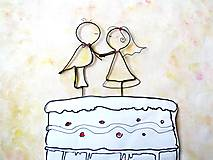 Dekorácie - do svadobnej torty - 9508678_