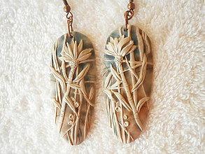 Náušnice - Náušnice z polyméru, kvet - 9508037_