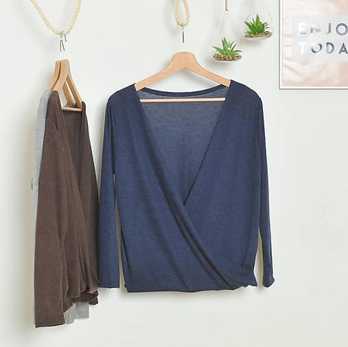 92c2a5a098ac Slušivý modrý pulover   indiva - SAShE.sk - Handmade Svetre Pulóvre