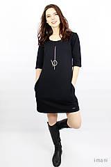 Šaty - Dámske šaty s vreckami čierne IO2 - 9507497_