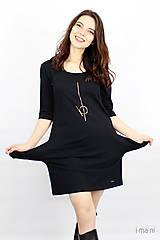 Šaty - Dámske šaty s vreckami čierne IO2 - 9507498_