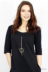 Šaty - Dámske šaty s vreckami čierne IO2 - 9507499_