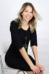 Šaty - Dámske šaty s vreckami čierne IO2 - 9507500_