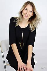 Šaty - Dámske šaty s vreckami čierne IO2 - 9507501_