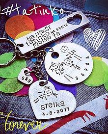 Kľúčenky - FAMILY - mix 3 pliešky podľa želania - 9510187_