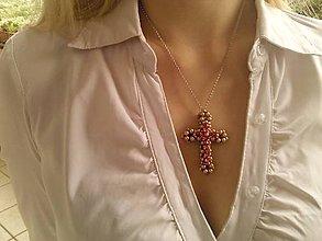 Náhrdelníky - Krížik na krku. - 9511341_