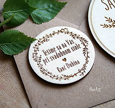 Papiernictvo - Pozvánka k svadobnému stolu - 9511288_