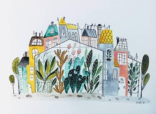 Mesto 39 ilustrácia  / originál maľba