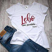 Tričká - Dámske tričko Lebo - 9510189_