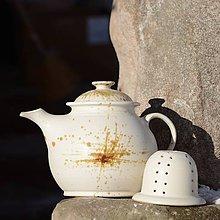 Nádoby - Čajová konvice Buclatá se sítkem 1,6l - Vůně kávy - 9511790_
