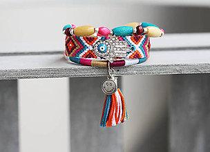 Náramky - Set 3 náramkov so strapcom - Brightly Colored - 9511342_