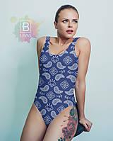 """Bielizeň/Plavky - Jednodielne plavky """"Modrá hĺbka"""" - 9512132_"""