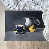 Obrazy - Čaj s citrónom - 9510678_