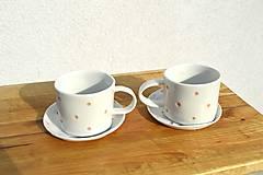 Nádoby - Porcelánová espresso šálka Bodkovaná - 9511482_