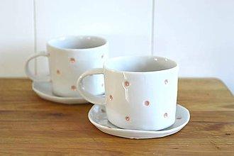 Nádoby - Porcelánová espresso šálka Bodkovaná - 9511481_