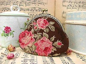 Taštičky - Růže na čokoládě - taštička - 9511127_