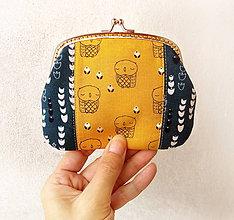 Peňaženky - Peňaženka XL Sovy v kvietkoch - 9511464_
